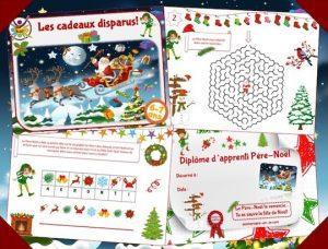 Jeux Noël enfant: chasse au trésor