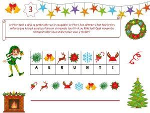 Animation de chasse au trésor pour enfants de 6 et 7 ans sur le thème de Noël