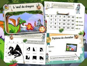 Kit de chasse au trésor des dragons et chevaliers
