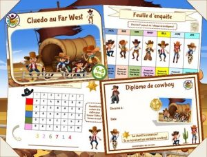 chasse au trésor des cowboys pour enfants de 4-5 ans
