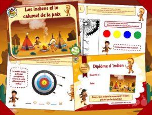 Chasse au trésor des indiens pour enfants de 4 et 5 ans