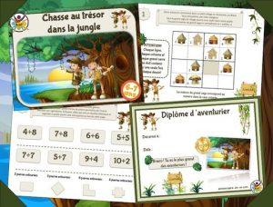 Kit de chasse au trésor à imprimer dans la jungle