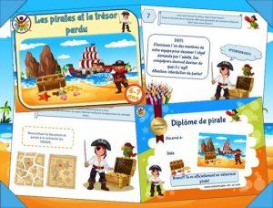 Imprimez une chasse au trésor sur le thème des pirates!
