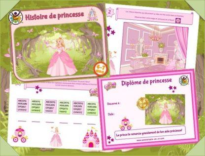 Kit de jeu anniversaire de princesse