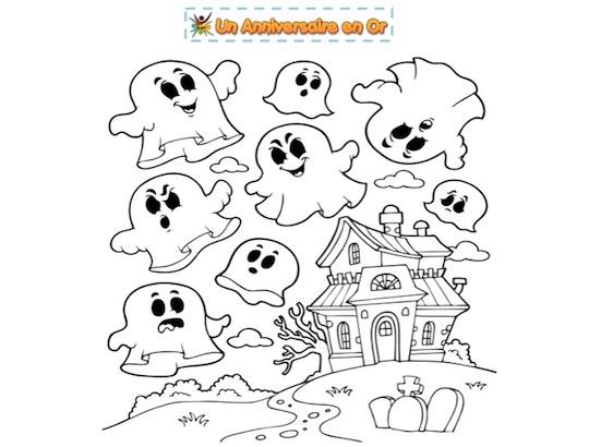 Coloriage de fantômes pour Halloween