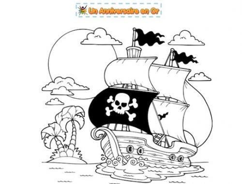 Coloriage de pirate à imprimer