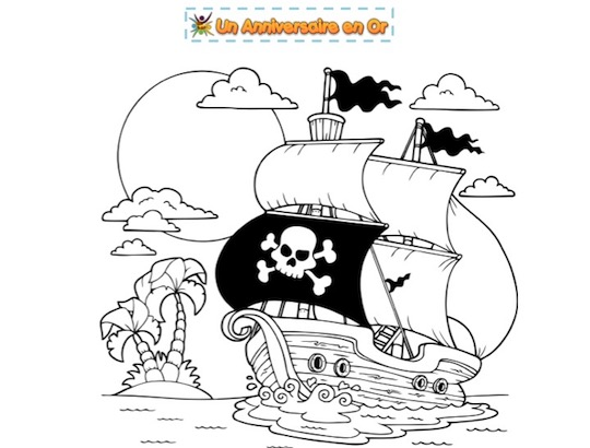 Coloriage de pirate à imprimer