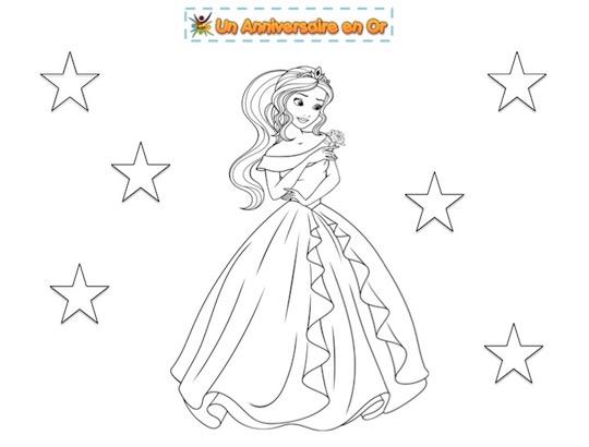 Coloriage de princesse à imprimer gratuitement