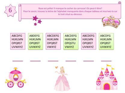 Enigmes et jeux pour activité princesse