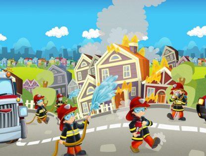 jeu d'aventure sur le thème des pompiers pour anniversaire