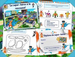 Chasse au trésor des super-héros pour enfants de 4-5 ans