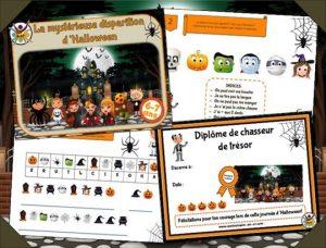 Kit d'animation de chasse au trésor d'Halloween pour enfants