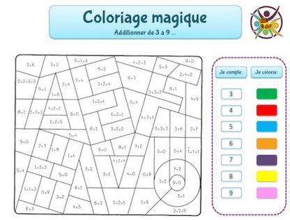 jeux gratuis à imprimer pour enfant de coloriage magique