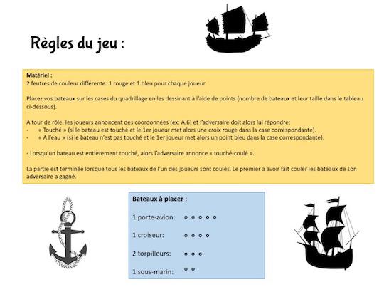 Imprimez votre jeu de bataille navale
