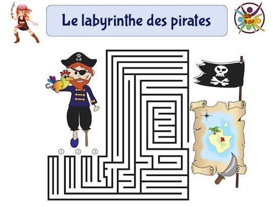 jeu gratuit à imprimer de labyrinthe des pirates
