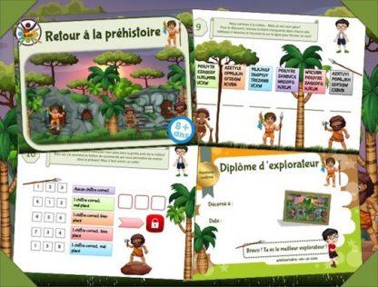 Chasse au trésor pour enfants thème préhistoire!
