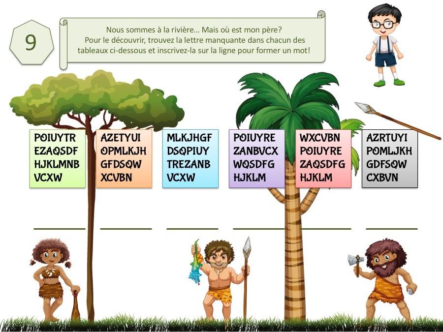 Kit de jeu éducatif pour enfant thème préhistoire