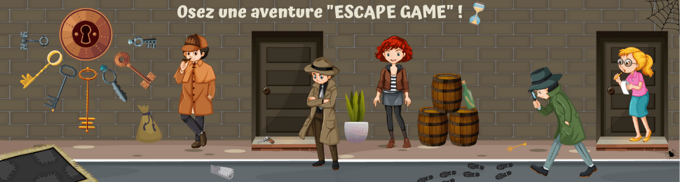 Kit de jeu d'escape game pour enfants à mettre en place à la maison