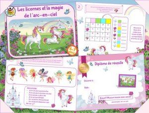 Imprimez un jeu de chasse au trésor licorne pour enfants de 6-7 ans