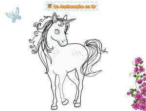 coloriage gratuit à imprimer de licorne
