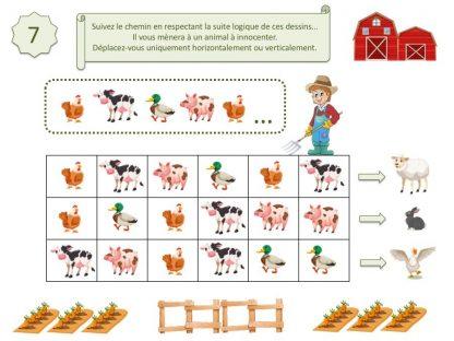 Jeux, énigmes, activités enfants sur les animaux de la ferme