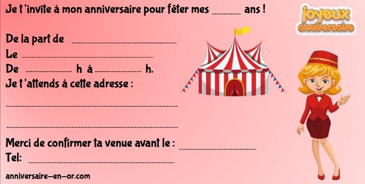 invitations anniversaire enquêtes policières enfants cirque