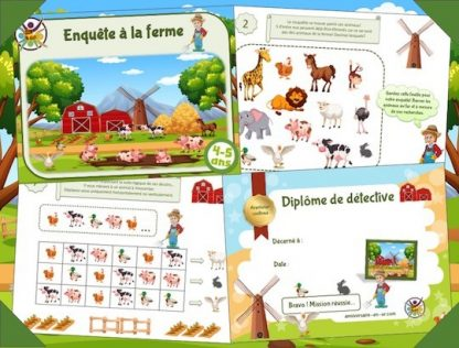Kit de jeu pour enfants de 4-5 ans sur les animaux de la ferme
