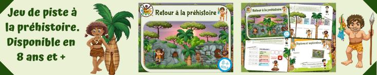 Grand jeu de piste pour enfants à la préhistoire!