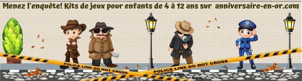 Kits de jeux d'enquête policière pour enfants de 4 à 12 ans