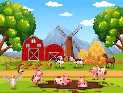 Jeu anniversaire à imprimer pour enfants sur le thème de la ferme