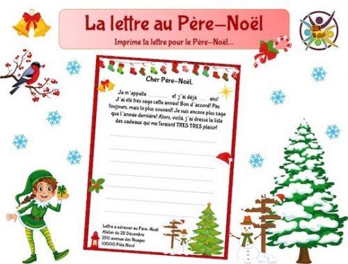 imprime ta lettre pour le Père-Noël