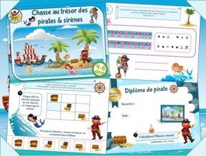 Organisez une chasse au trésor pirates et sirènes pour l'animation d'anniversaire!
