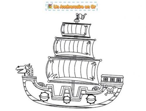 coloriage navire corsaire