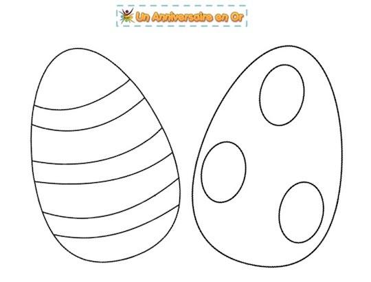 Coloriage de Pâques à imprimer pour enfants!