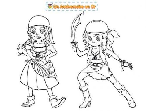 Coloriage pour enfants à imprimer gratuitement sur le thème des pirates!