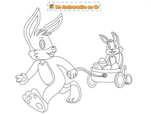 Coloriage à imprimer gratuitement pour enfants sur Pâques!