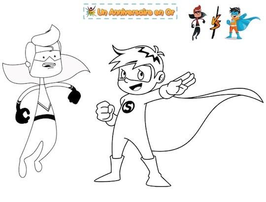 coloriage de super-héros à imprimer