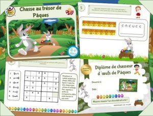Kit de jeu enfant pour chasse aux œufs de Pâques!