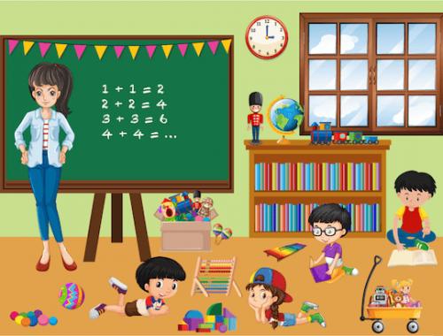 énigme et enquête de détective pour enfants de 4-5 ans à la maternelle