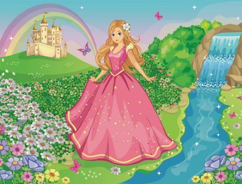Jeu anniversaire de chasse au trésor princesse
