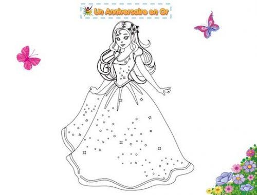 Coloriage enfant à imprimer thème princesse