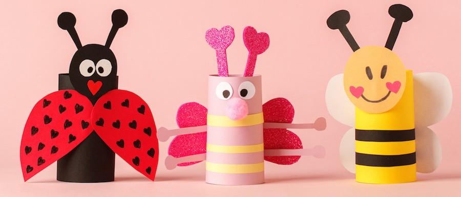fabriquer les animaux de printemps en rouleau de papier toilette.