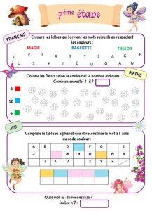 Cahier de vacances à imprimer pour enfant de maternelle