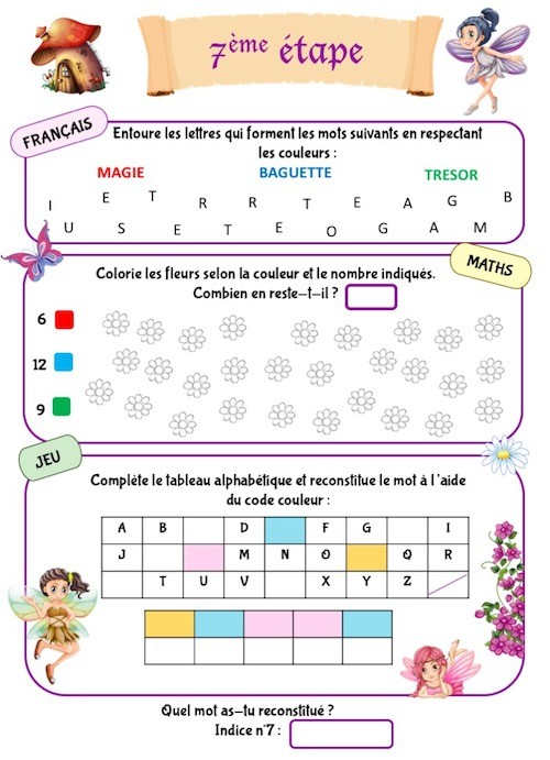 Cahier d'activités à imprimer pour enfant de maternelle