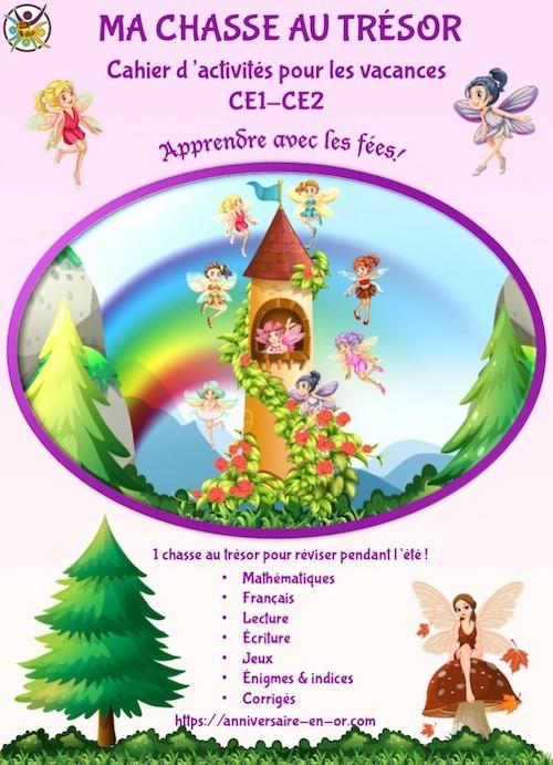 Cahier de vacances à imprimer pour enfants de CE1-CE2