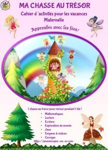 Cahier de jeux et activités sous forme de chasse au trésor pour enfant
