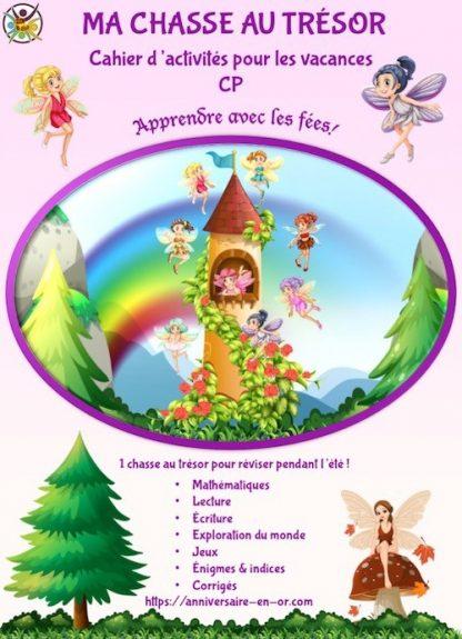 Chasse au trésor sous forme de cahier d'activités pour enfant, niveau CP