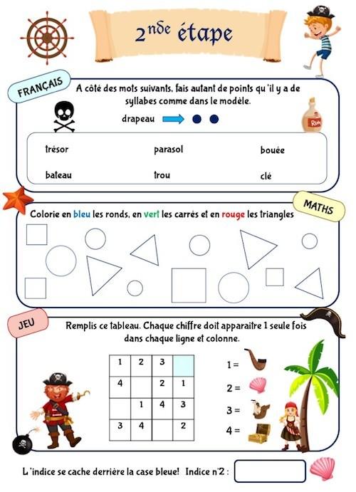 Cahier d'activités pour enfants de maternelle à imprimer