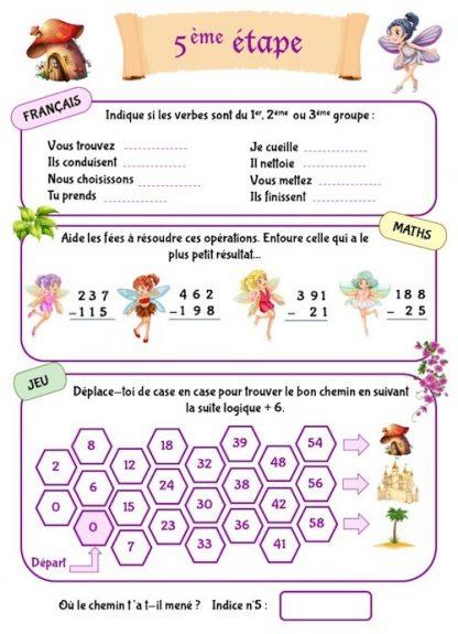 Cahier de jeux et d'activités pour enfants de CE1-CE2
