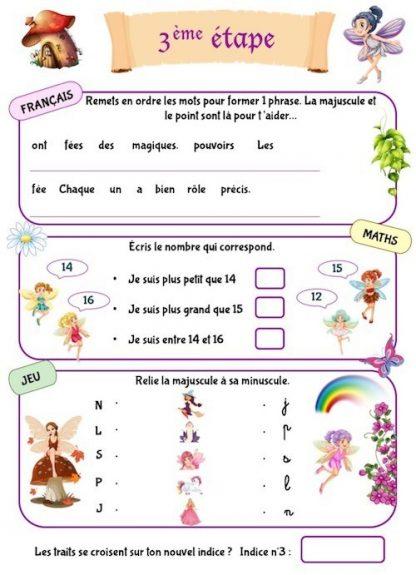 Cahier de vacances à imprimer pour enfants de CP
